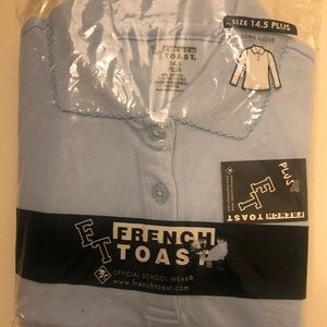 French toast shirt blue size 14 1/2 long sleeve